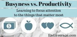 Busyness vs. Productivity